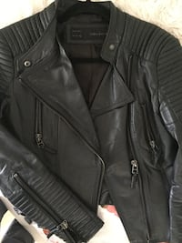 Zara black leather jacket  Montréal, H3G 1C2