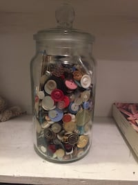 Large jar of buttons