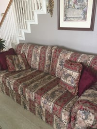 Floral Sleeper Couch