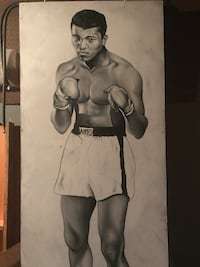 Muhammad Ali Life Size painting by artist Corey Pane