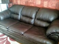 brown leather 3-seat sofa Cobourg, K9A 2L3