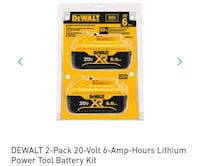 DEWALT 2 pack 20 Volt 6-amp power tool battery kit pack Las Vegas, 89120