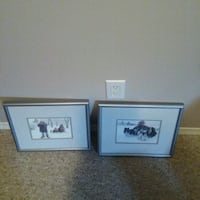 Two 12x12 pictures in matted grey metal frames Kelowna, V1V 1S8