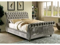 On sale! Brand new queen size grey bedframe  161 mi