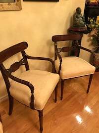 Pair of deep burgundy wood chairs Markham, L3S 2W3