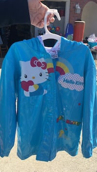 pink Hello Kitty rain coat