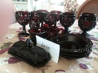 Ruby Red Glass Ware Woodbridge