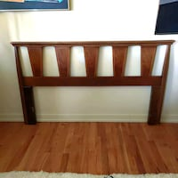 Mid Century Queen Bed Headboard Vintage Walnut MCM Warren