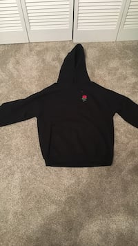 Large (fits smaller) Black Rose Hoodie Tallahassee, 32303