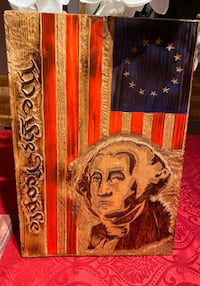 Carved George Washington portrait