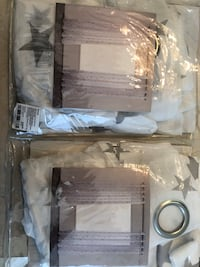 New Bouclair Star Sheer Curtains 2 Packs 1 Panel in Each 52x84