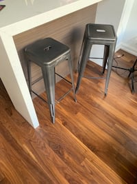 Tolix bar stools in gunmetal (pair) Toronto, M5A 2C5