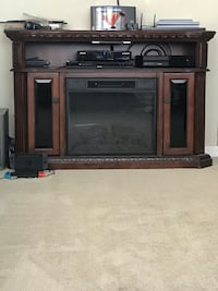 Electric fireplace cherry wood with 2 side doors for storage  Fair Lawn, 07410