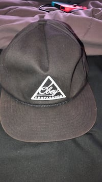 Black w/ embroidered logo Obey Snapback hat Fitchburg, 01420