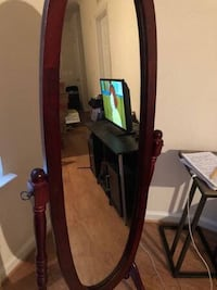 black wooden framed cheval mirror Hyattsville, 20785