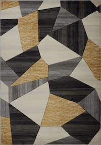 "BRAND NEW - Arbutus Cream Gold Contemporary Area Rug 7'10"" x 10'5"""