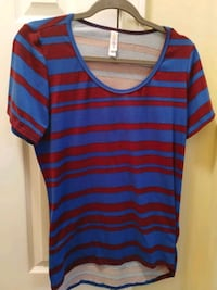 blue and red stripe scoop neck shirt St. Augustine, 32092