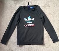 Black adidas sweater colourful print in the front with purple zipper Edmonton, T6T 1A4