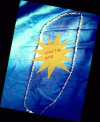 """Solid 24k gold James Avary 22""""chain necklace"""