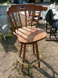 brown wooden barstool chair 2261 mi
