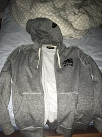 gray and white zip-up hoodie Whitby, L1R 2L5