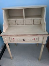 Hand painted antiqued petite writing desk