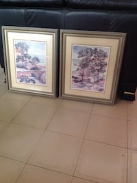 Two brown wooden framed paintings Montréal, H1E 4R1