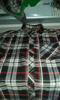 white grey black and red plaid sports shirt Ontario, 91764