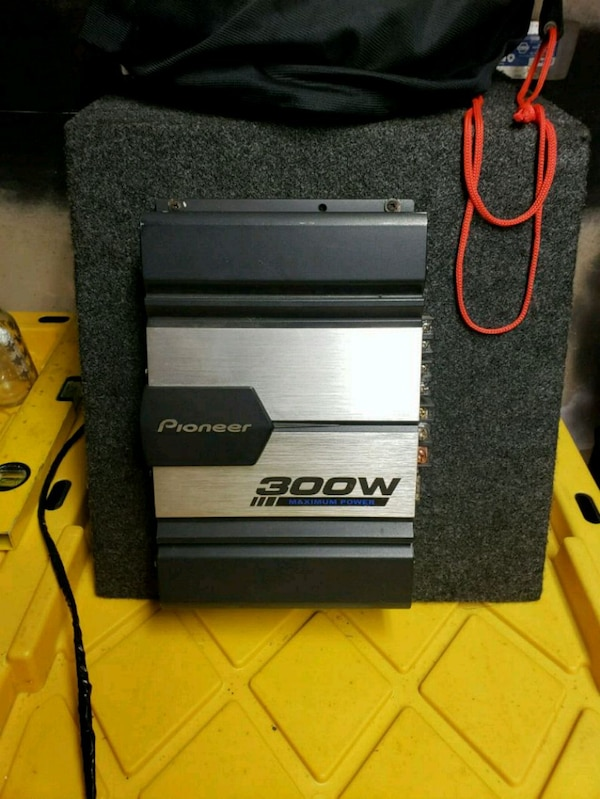 "JL 10""sub and 300 watt pioneer amp"