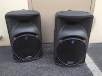 (2) Mackie SRM450 SRM 450 *MADE IN ITALY* V1 speakers