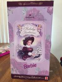 ****    1996 Holiday Traditions Barbie ~ Never removed from box