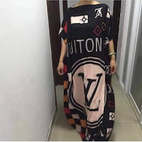 women's black Louis Vuitton loose top dress