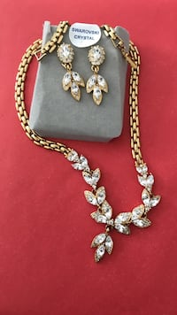 gold and silver crystal  jewelry set Ottawa, K4A 3N6