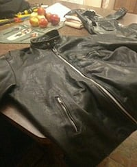 Mens Leather motorcycle jacket and chaps