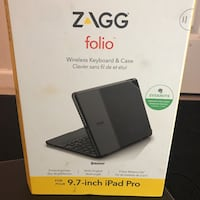 zagg folio wireless keyboard and case box Annandale, 22003