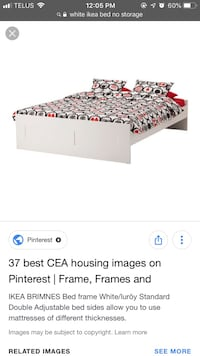 IKEA White Bed Frame DOUBLE Vancouver