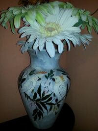 Hand Painted Mexican Ceramic Vase with flowers Saanichton, V8M 2E4