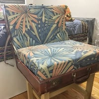 Chair made from Vintage Suitcase  Boston