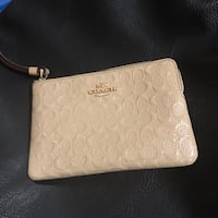 white monogrammed Coach leather wristlet Toronto, M3K 1E4
