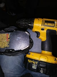 Dewalt drill charger and 2 batteries