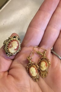Ring and earings Cameo