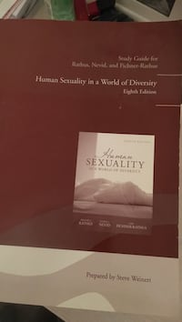 Human sexuality in a world of diversity eight edition by steve weinert book Agoura Hills, 91301