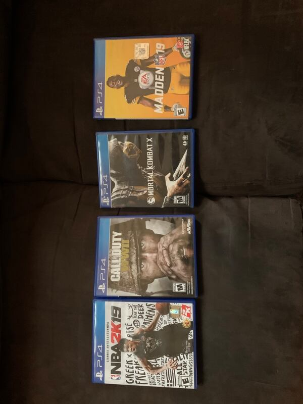 PS4; NBA 2K19, Call of Duty WWII, MK10, and Madden 19 227492fb-c834-42b6-b7c0-74a174b7e5f7