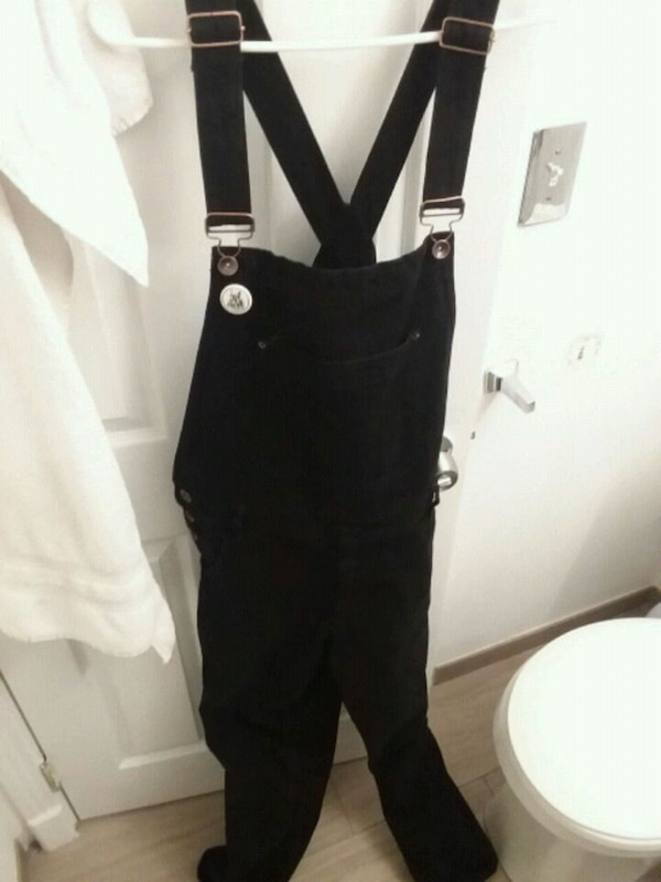 new varieties elegant shoes luxury Used Mens BDG black denim overalls 32w urban outfitters for ...