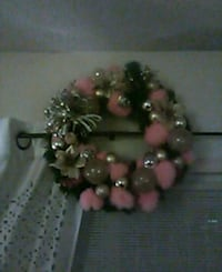 pink and silver wreath New York Mills, 13417