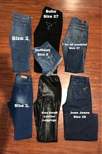 Jeans sizes on picture Fresno, 93727