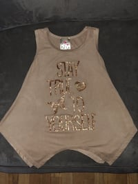 Beige and gold girls sleeveless top Bensenville, 60106