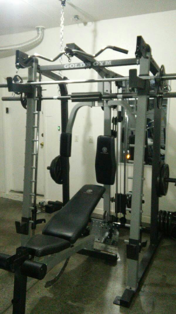 Used Smith Machine Golds Gym All Weights Included Any