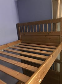 brown wooden slatted bed frame Springfield, 22153