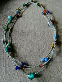 Handmade hemp necklace with glass beads Vancouver, 98682